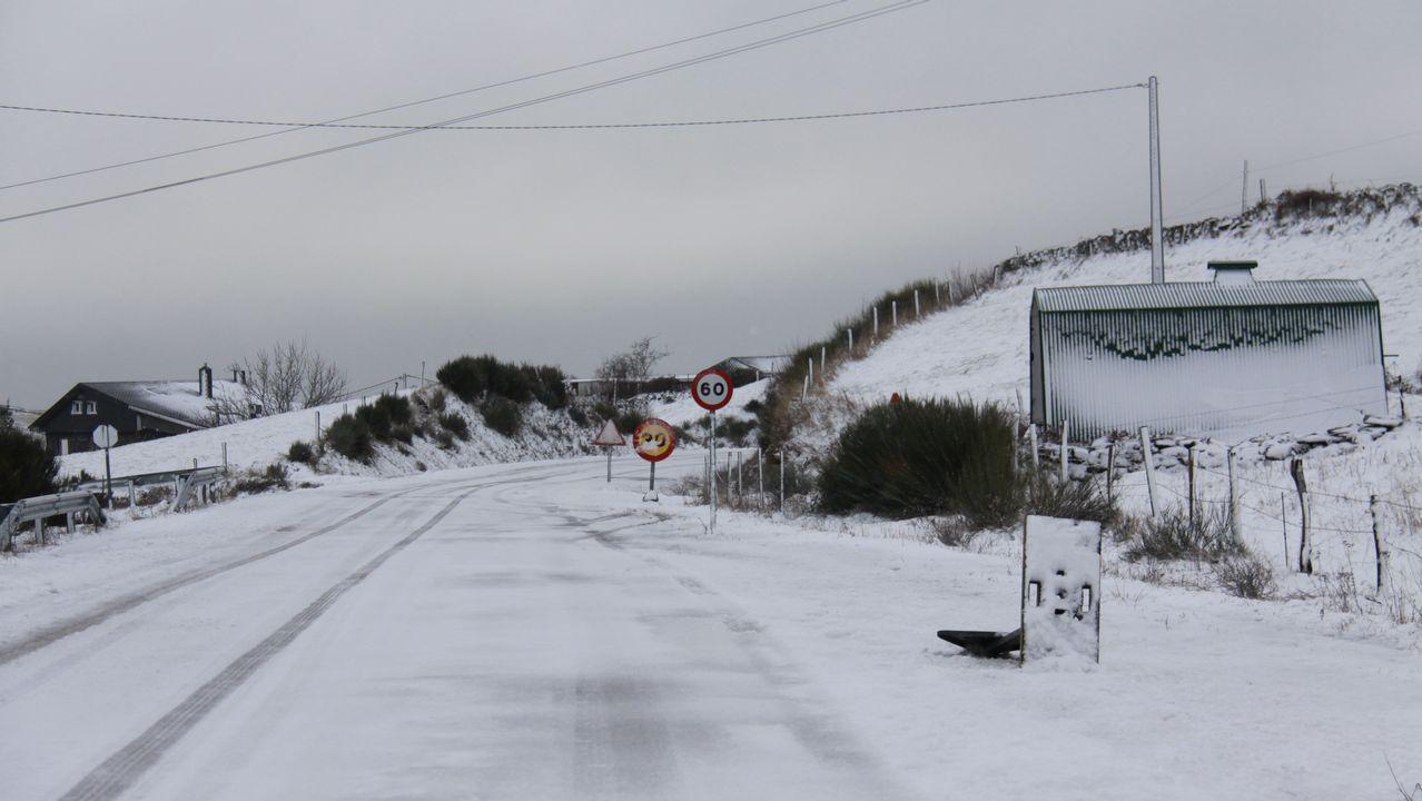 Los «#10yearschallenge» de Ourense.Día de nieve en Manzaneda