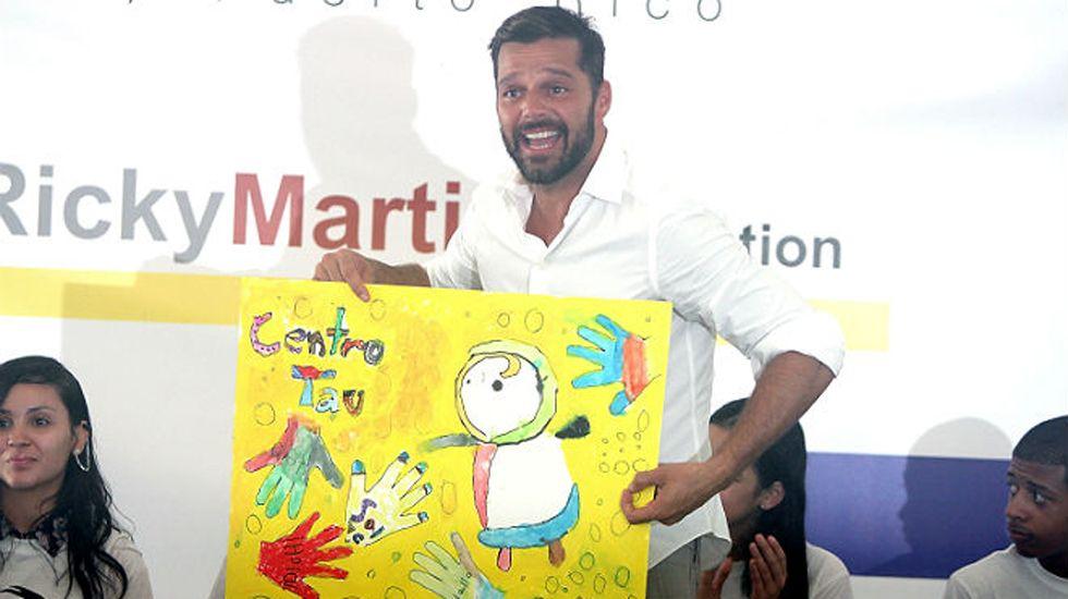 .Ricky Martin reclama una mayor protección de la infancia.