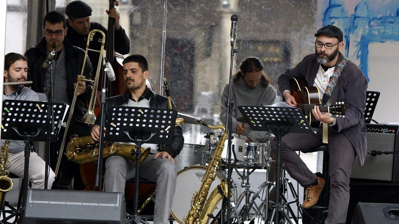 Ademais do guitarrista Marcos Pin (na foto), a boa saúde do jazz galego estará representada en Lugo por Nani García, Roberto Somoza, Nastasia Zürcher, David Regueiro ou Juyma Estévez