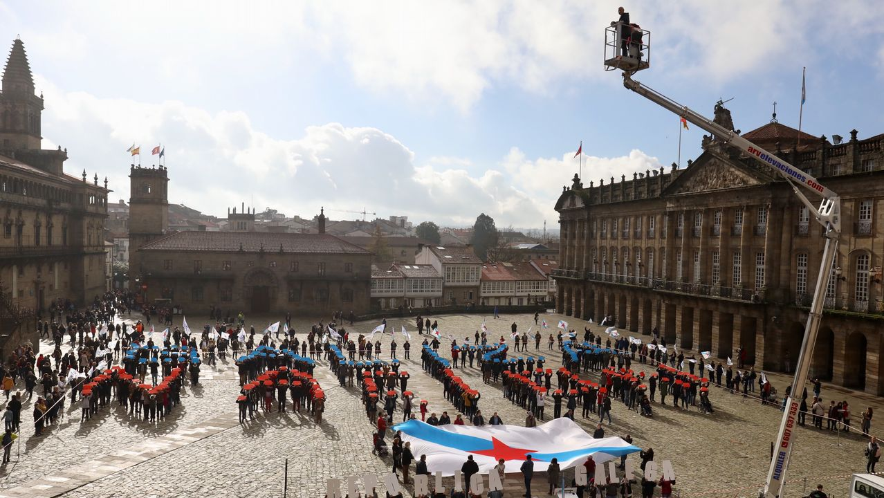 Acto do BNG na praza do Obradoiro co gallo do 40º aniversario da Constitución.Pachi Vázquez