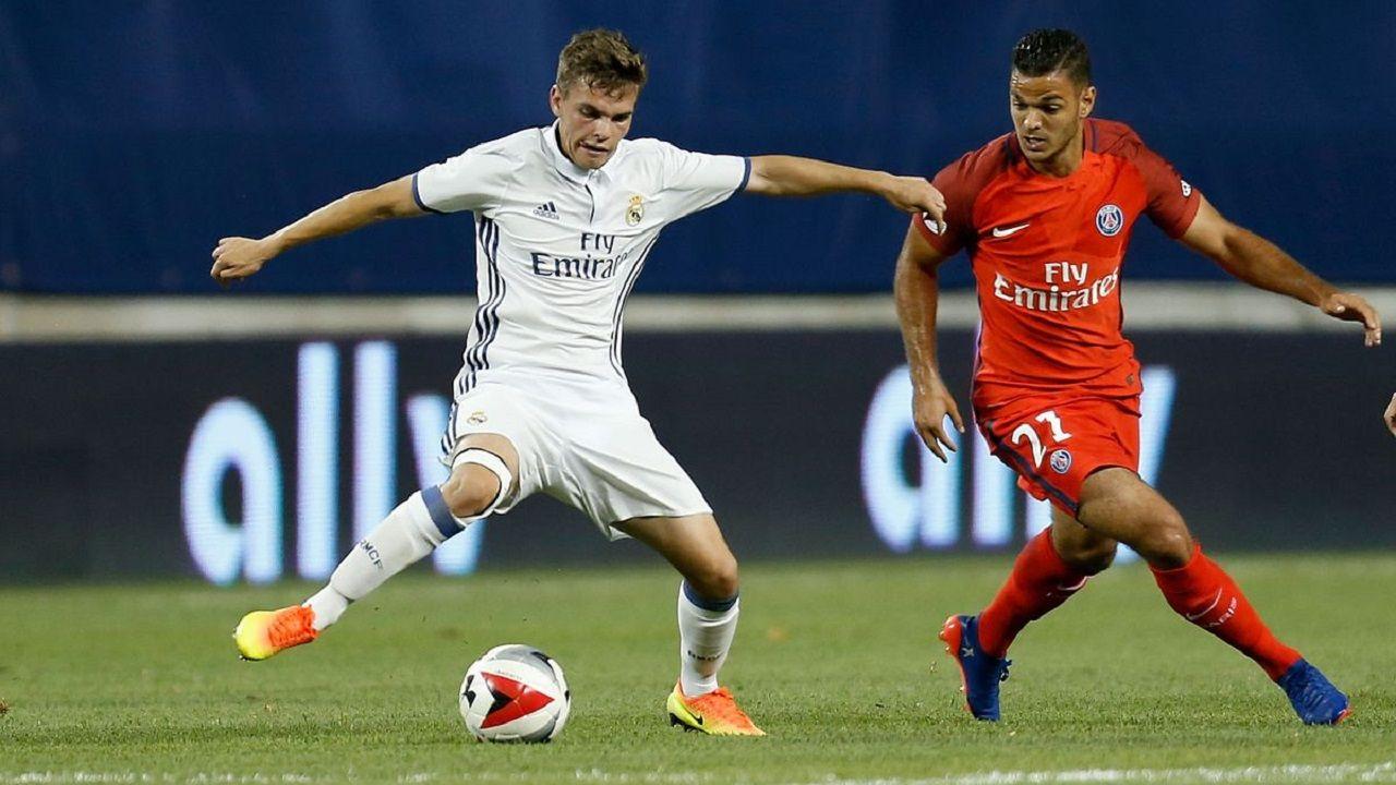 Aleix Febas en un amistoso entre Real Madrid y PSG