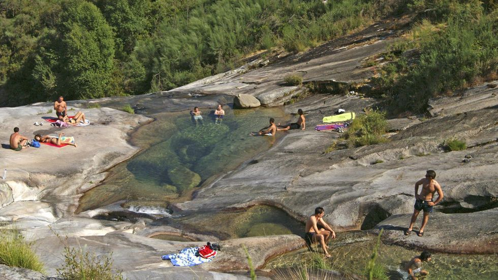 Pozas de Melón en As Mestas. Río Cerves