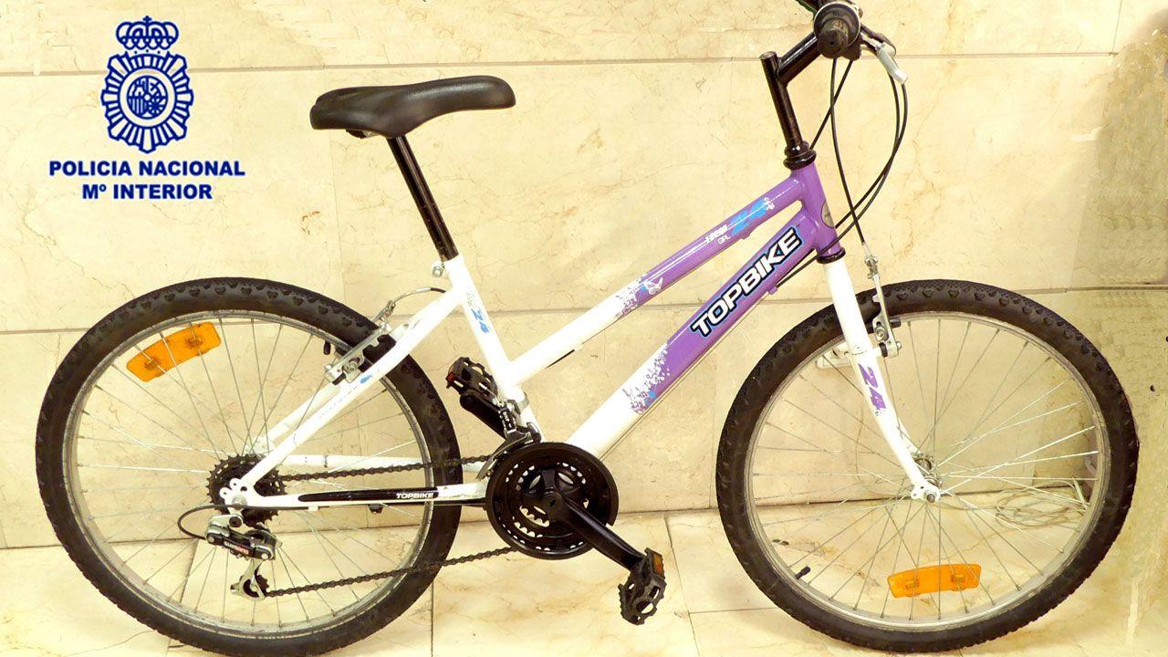 Contaminación en Gijón.La bicicleta presuntamente robada cuyo propietario busca la Policía
