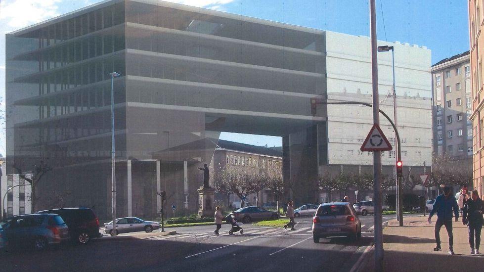 vista del nuevo edficio CI3 de la UDC en el campus de Esteiro