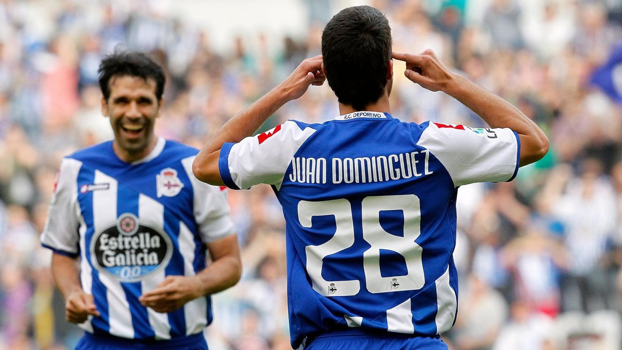 Juan Domínguez y Juan Carlos Valerón