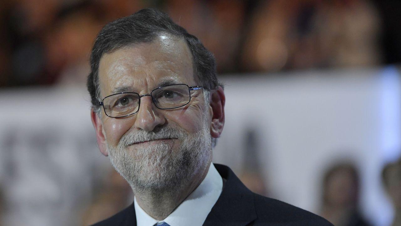 Rajoy, a la derecha del tribunal.Rajoy declarando como testigo en la Audiencia Nacional por la Gürtel.
