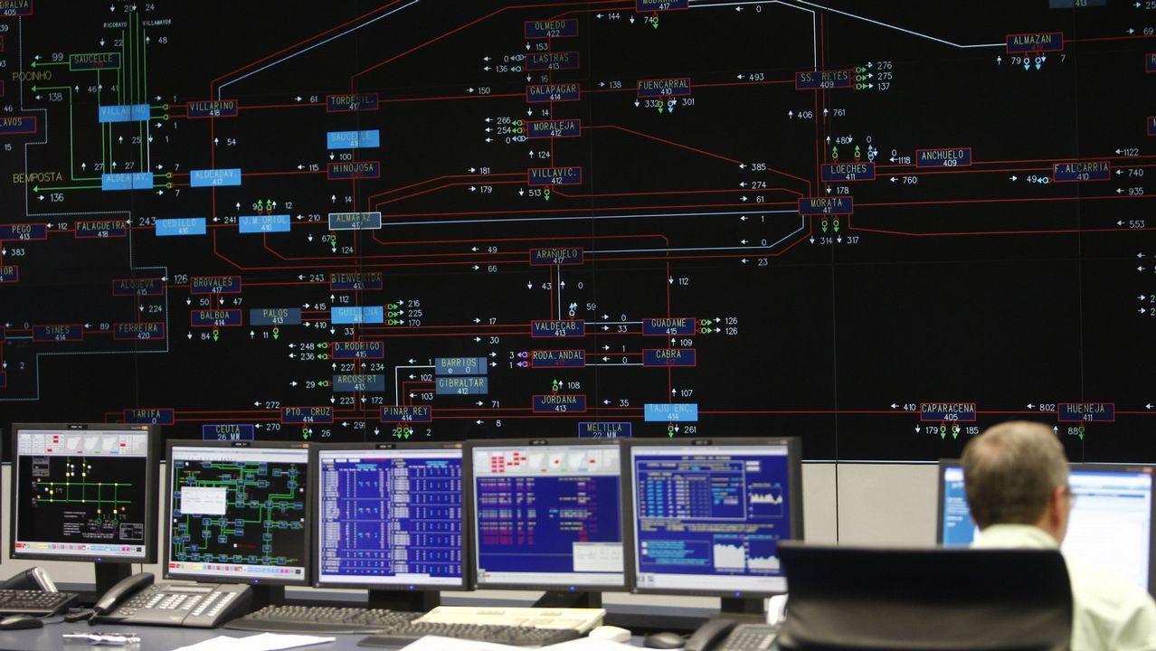 Centro de control del sistema eléctrico de REE en Alcobendas