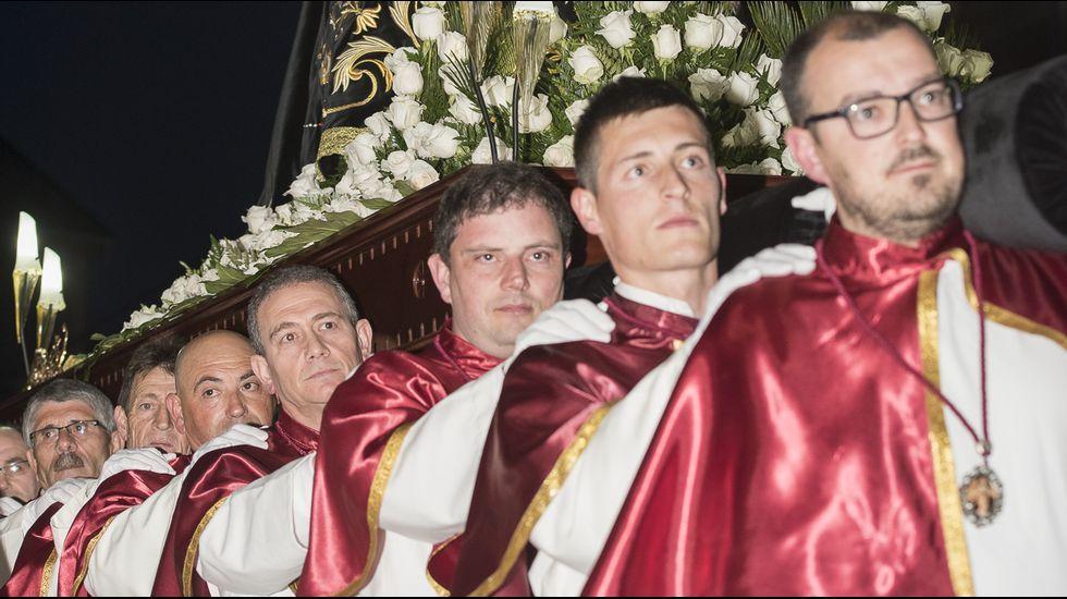 Procesión de Viernes de Dolores en Fisterra