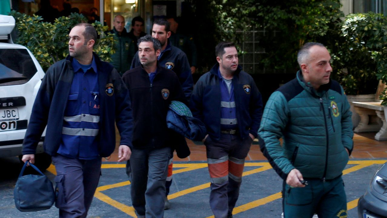 Inundaciones en Oviedo.Brigada de salvamento minero