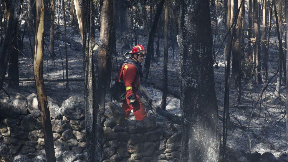 Máxima preocupación por dos incendios descontrolados en Galicia.