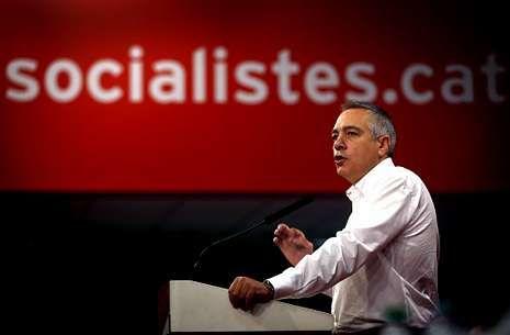 Pere Navarro, ayer en su intervención en el consejo nacional del PSC en Barcelona.