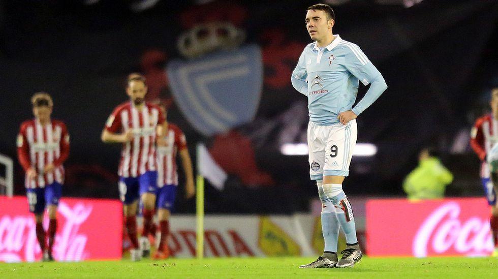 Celta - Atlético de Madrid, en imágenes.Augusto fue sustituido al inicio de la segunda mitad