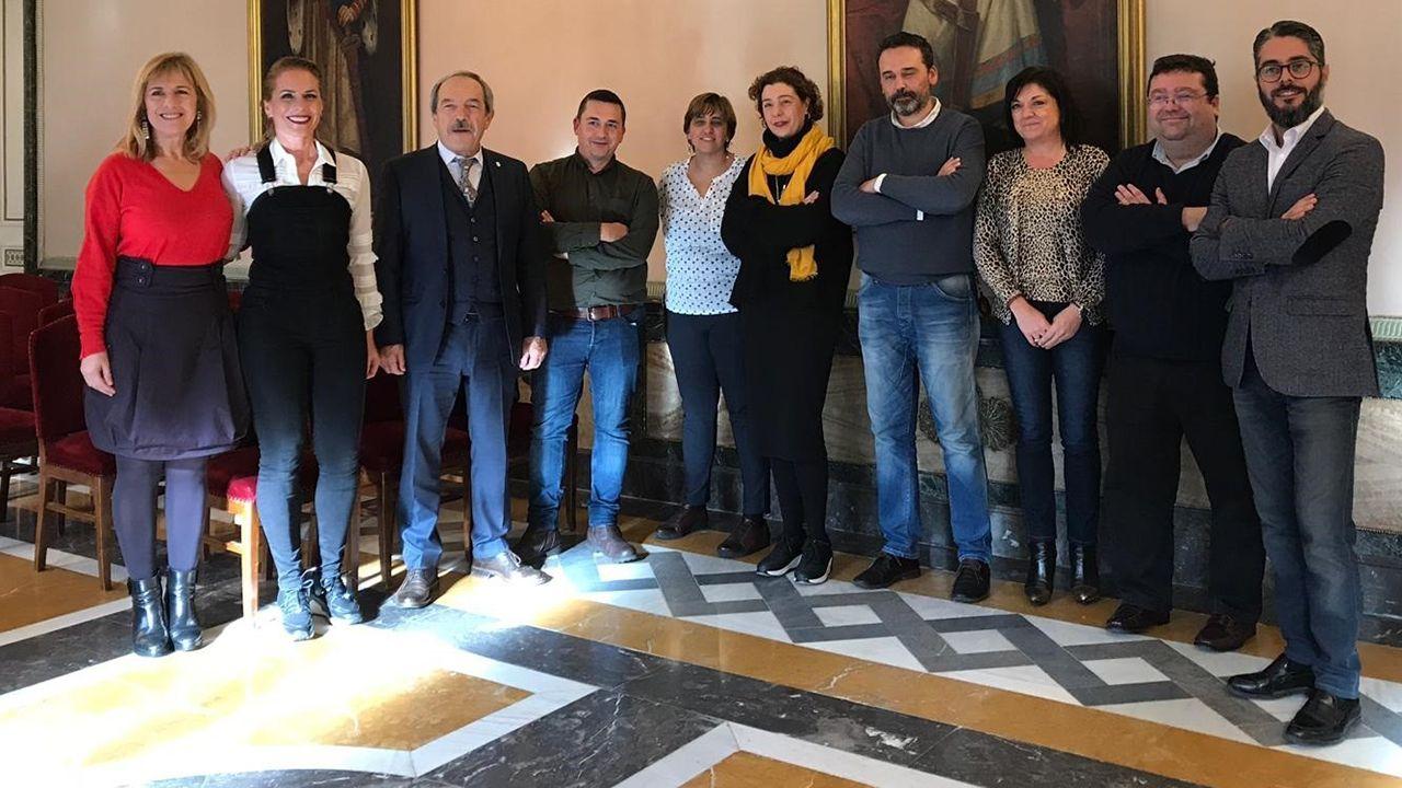 Villa Magdalena.Recepción a Judith Obaya en el Ayuntamiento de Oviedo