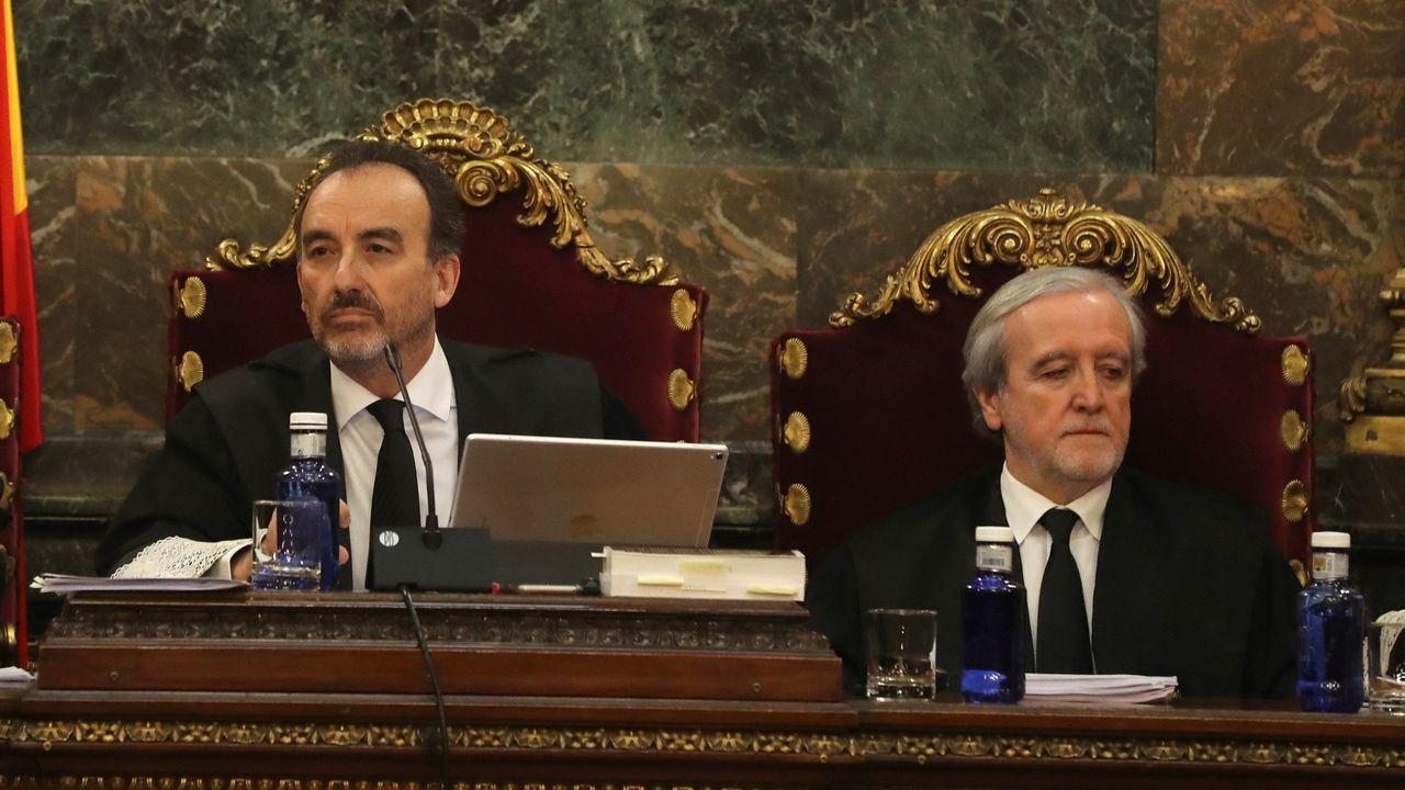 Gol Yoel Barcenas Real Oviedo Reus Carlos Tartiere.El magistrado Manuel Marchena, preside el tribunal, junto al juez Juan Ramón Berdugo, al inicio de la vista por las cuestiones previas del caso del «procés», el pasado día 18