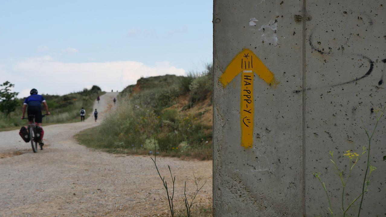 .Un trecho del Camino, cerca de León