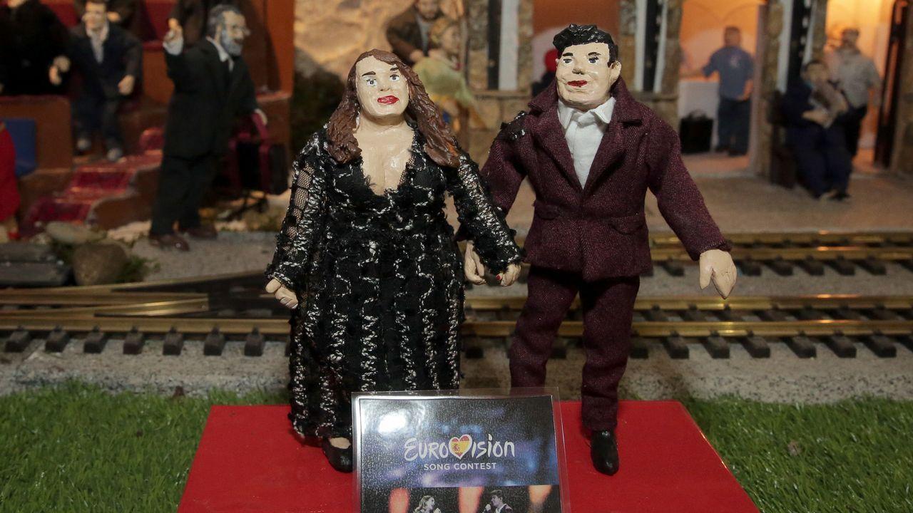 Los cantantes de Eurovisión Amaia y Alfred