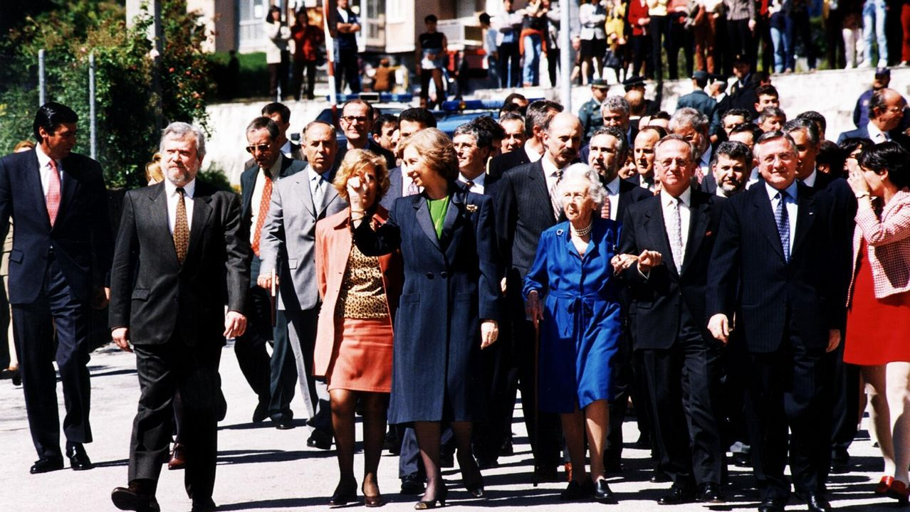En su visita a Ourense en 1998