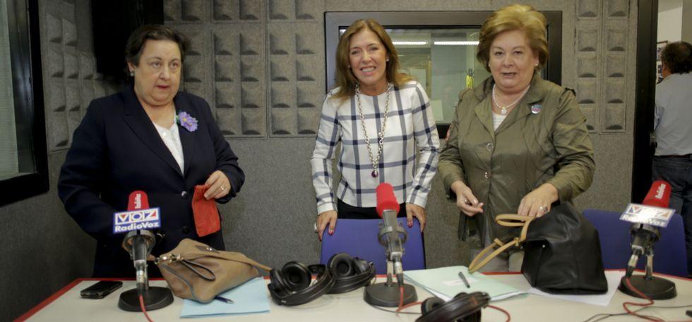 Pilar García Negro (BNG), Beatriz Mato (PP) y María José Cebreiro (PSOE) debatieron en Radio Voz.