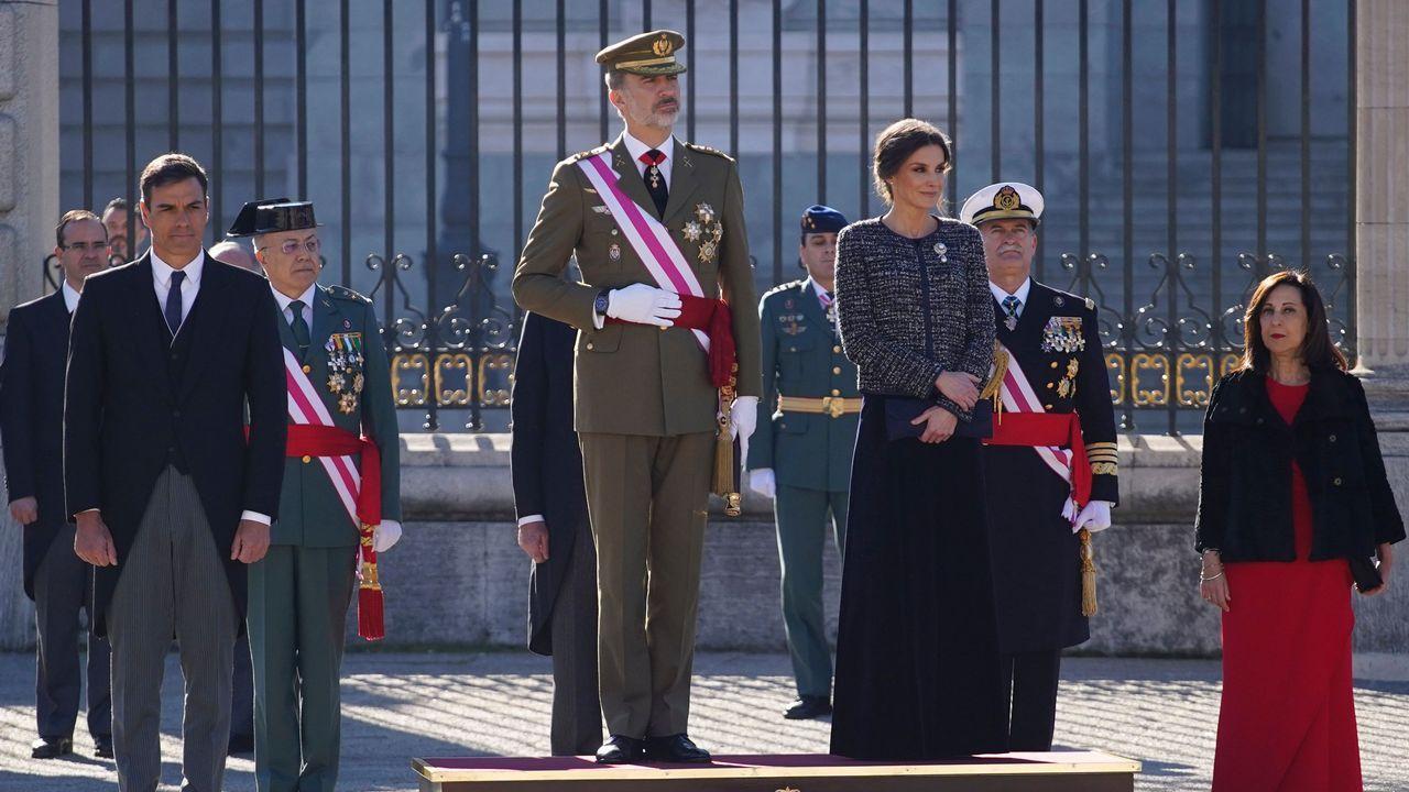 Los reyes presiden la tradicional celebración de la Pascua Militar.Imagen captada de YouTube