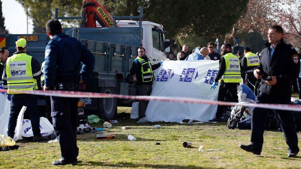 Ataque con un camión en Jerusalén.