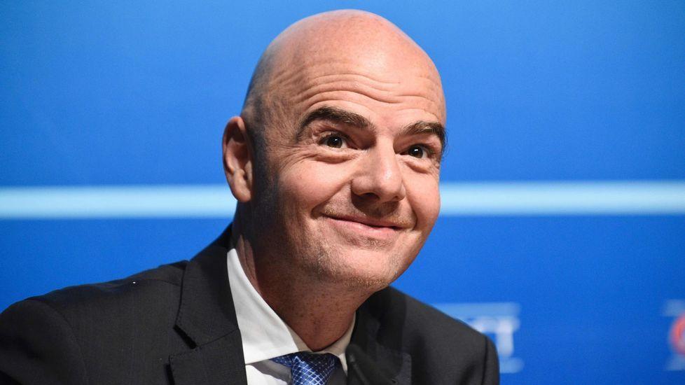 Los cinco candidatos a presidir la FIFA.