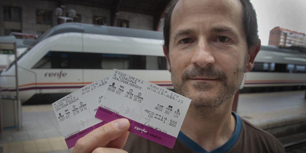 Volvo.Alberto viajará el viernes a Vigo en el tren actual y volverá el domingo en uno de alta velocidad.