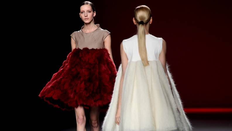 Roberto Verino inaugura la Semana de la Moda.Diseños de Amaya Arzuaga