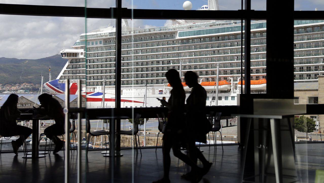 Cubierta del ferry de la cancelada línea Gijón-Nantes, de la naviera LD Lines
