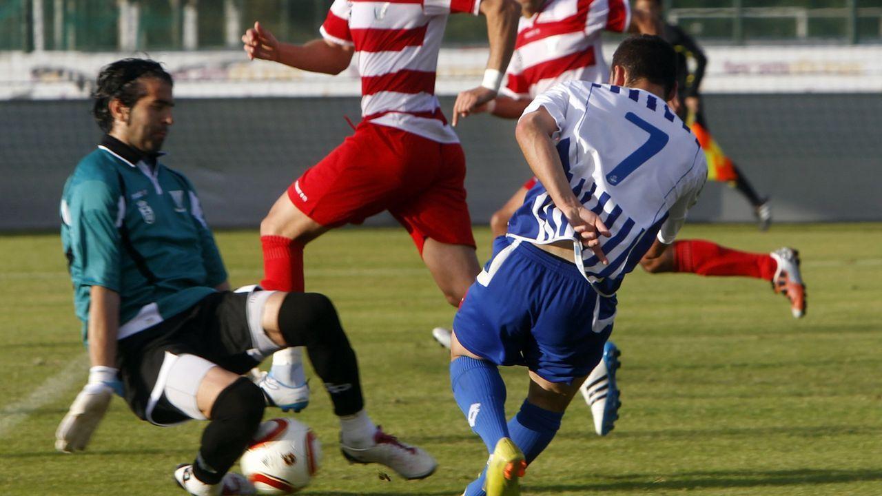 Deportivo B (Fabril)  - Leganes, en Abegondo. David Añón dispuso en la segunda parte de una de las escasas ocasiones de gol del Fabril.