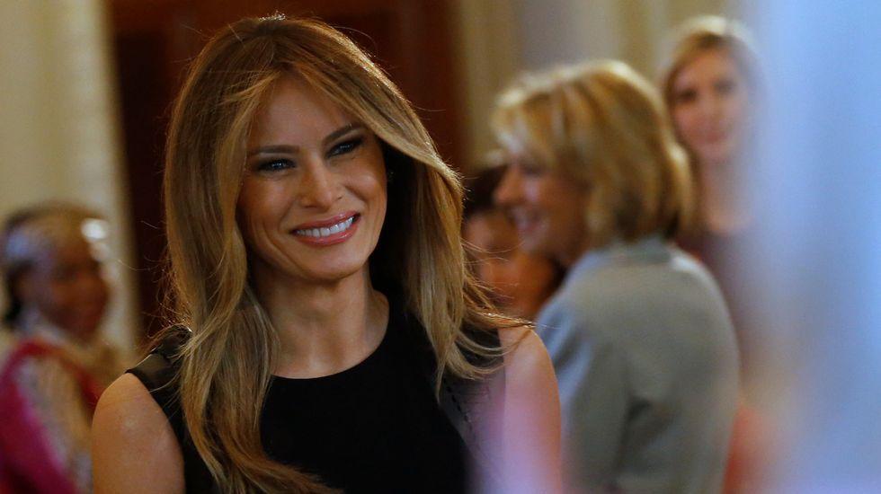 La apuesta de Melania Trump por la moda española.Melania Trump