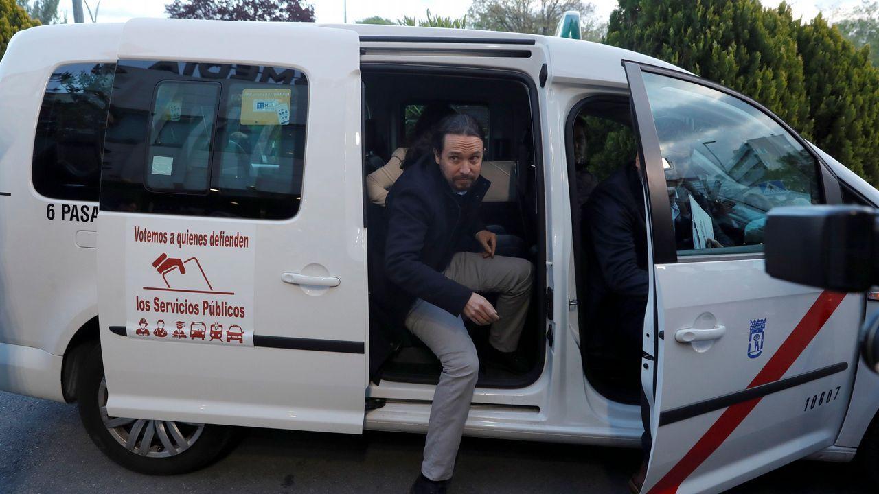 Iglesias llegó al debate de Atresmedia en taxi