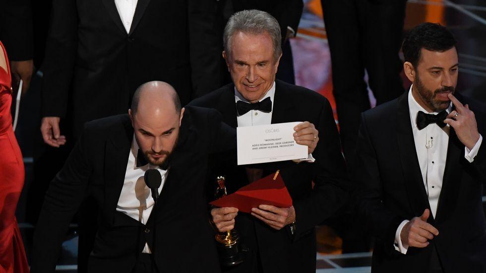 Confusión al anunciar la mejor película de los Óscar.
