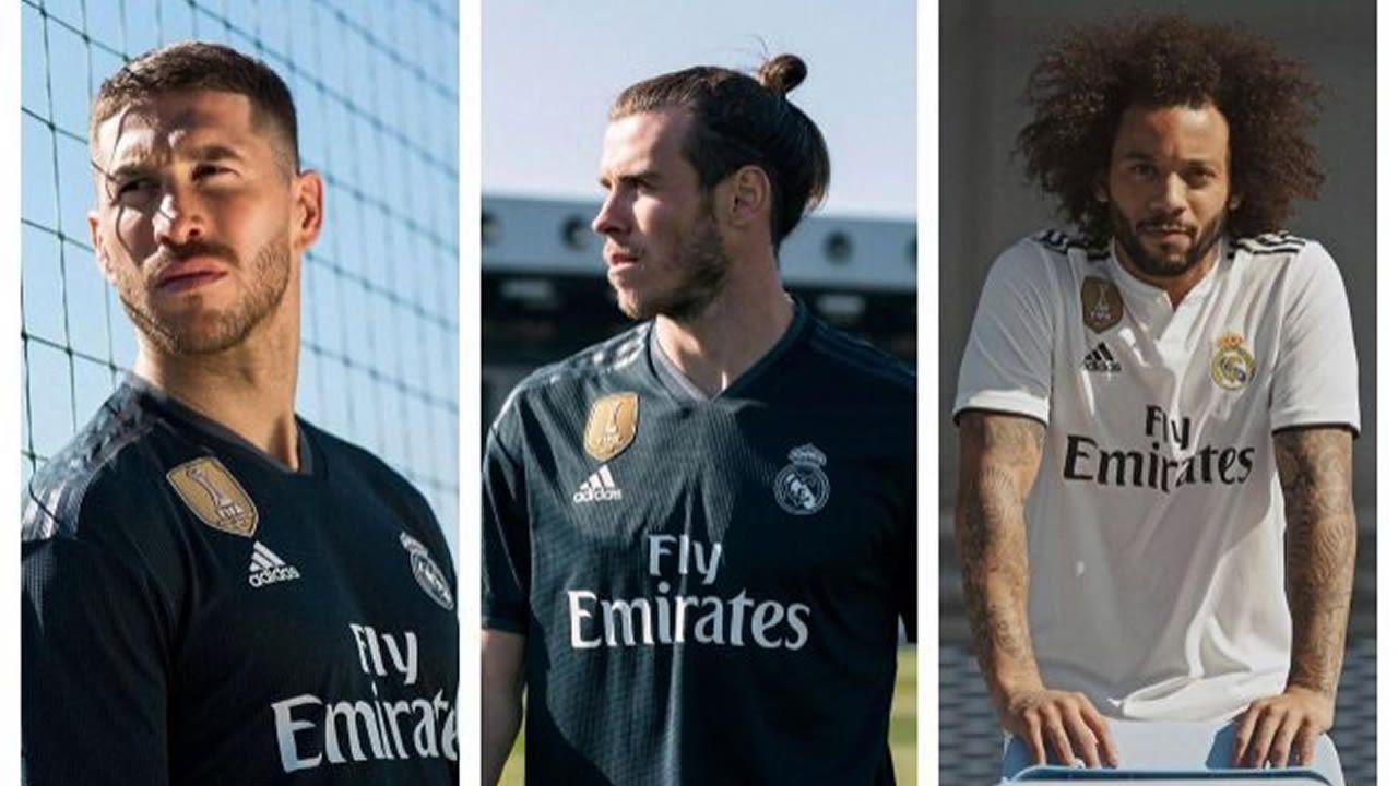 Presentación de la nueva camiseta del Real Madrid