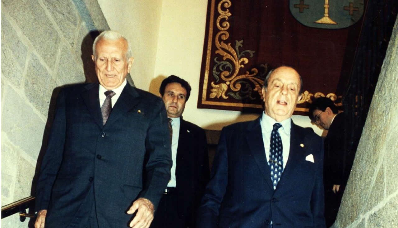 Gallego Fernández y Manuel Fraga, en Santiago en 1995
