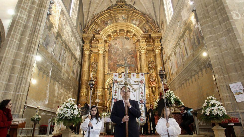 Así quedó el corazón de A Chavasqueira.La cabecera de la iglesia es una de las zonas donde se actuará en la próxima fase de las obras de rehabilitación