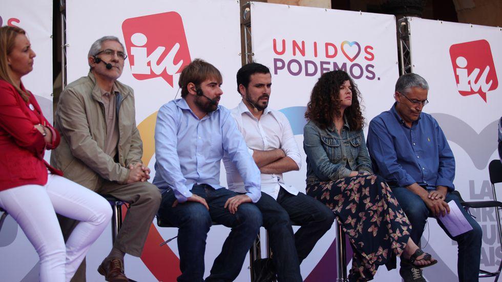 Un mitin conjunto de Podemos e IU en las elecciones del 26 de junio en Gijón
