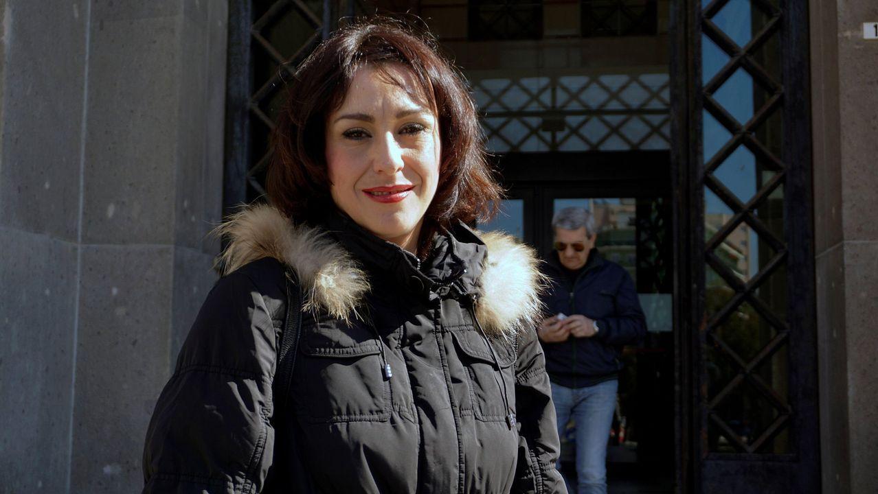 | EFE.Juana Rivas, en los juzgados de Cagliari, en Cerdeña