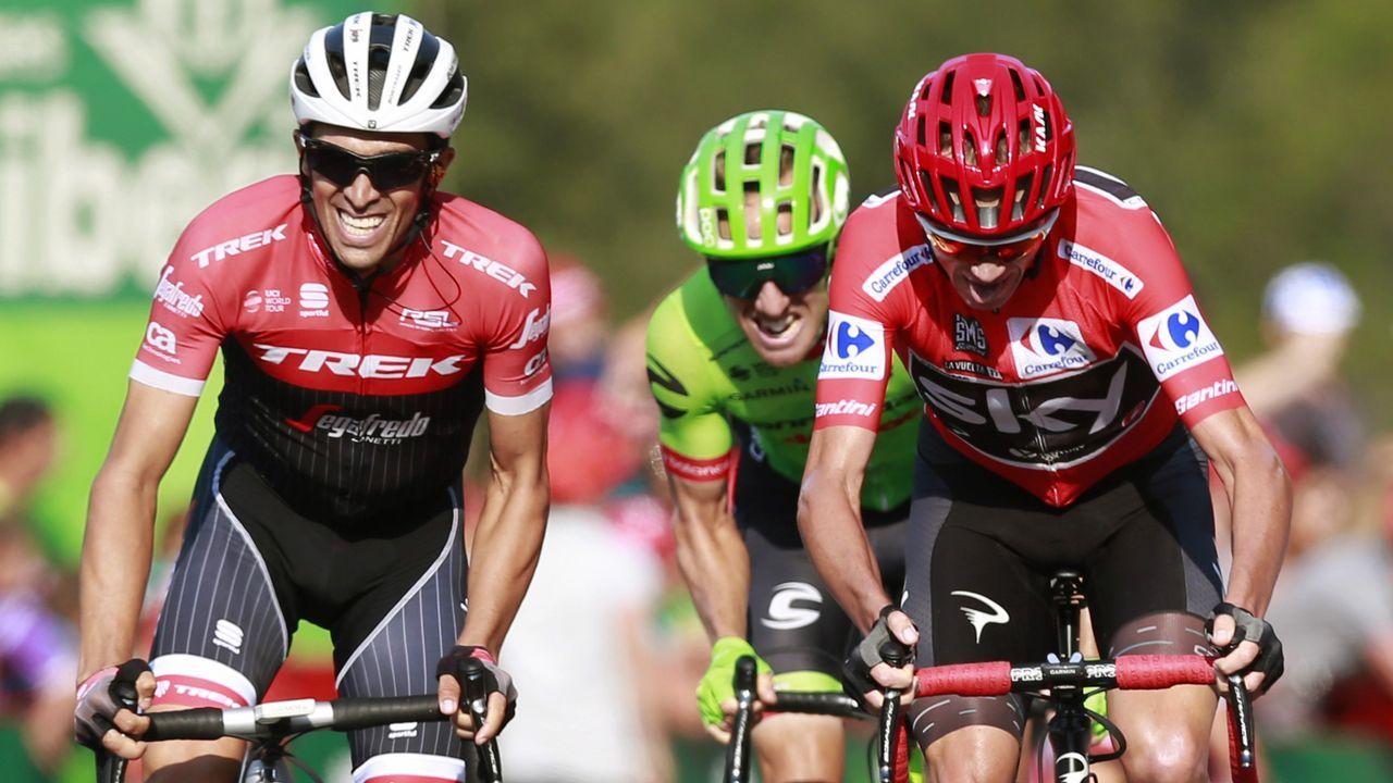El ciclista que corona grafitis.Alberto Contador