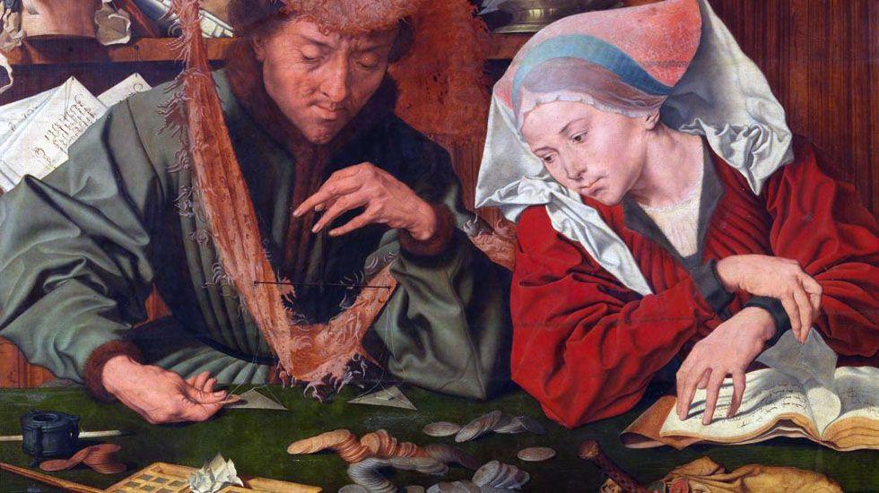 Adrián Barbón.El Cambista y su mujer (Quentin Massys, 1514)