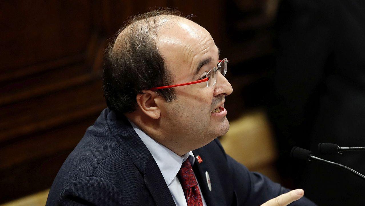 Iceta (PSC): «Le pido que diga que este Parlamento no ha declarado la independencia