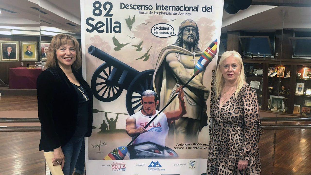 50 Campeonato de España de piragüismo de Invierno.Carmen Menéndez con Esther Canteli