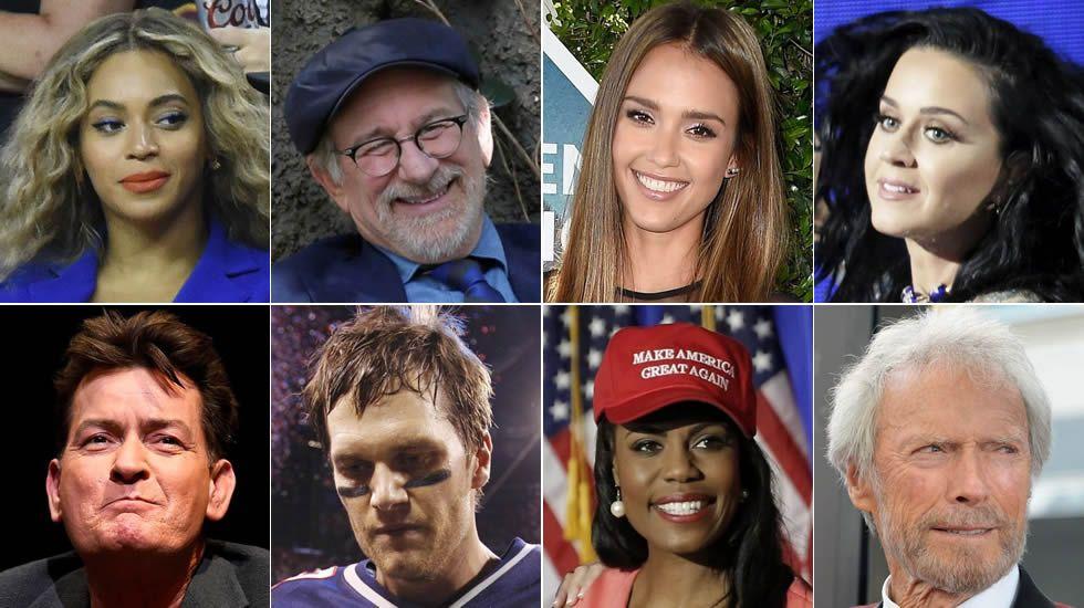 ¿Qué famosos apoyan a los candidatos a la Casa Blanca?