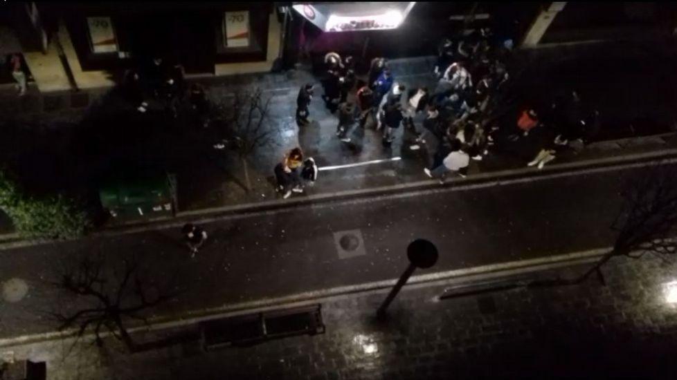 La policía pone en marcha el operativo para controlar la movida nocturna en el Ensanche