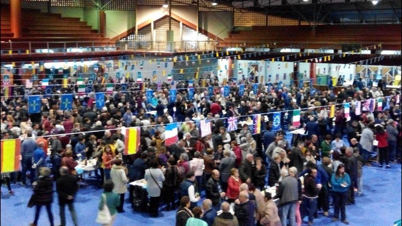 De izquierda a derecha, los representantes de Astilleros Gondán, Álvaro Platero, Thyssenkrupp, Javier Sesma, Talleres Zitron, Asma Ouazzani, y Javier Parra en la Cámara de Comercio de Oviedo