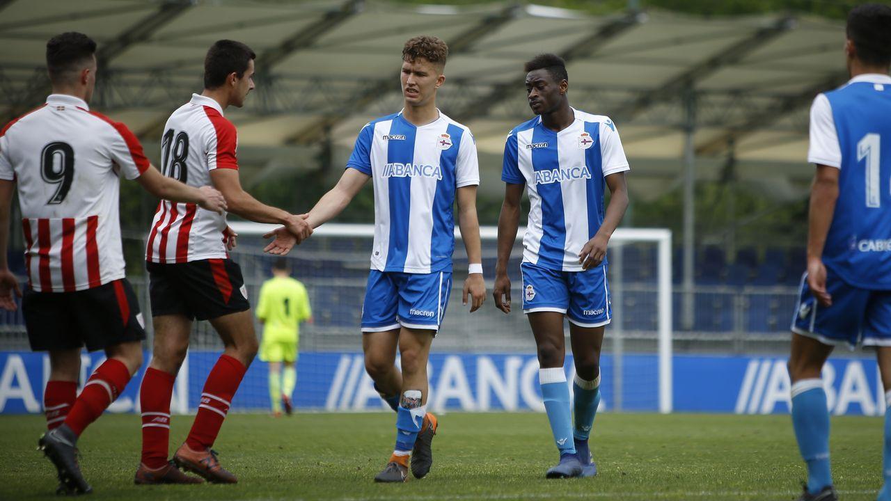 .Mujaid jugó los 90 minutos a pesar de jugar el día antes con el primer equipo en Primera División