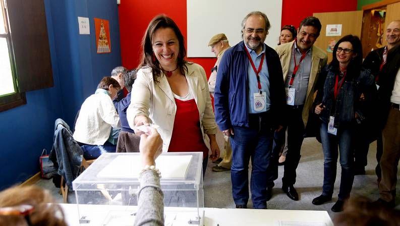 elecciones.Pablo Iglesias celebra el triunfo de Podemos, que consigue 5 escaños.