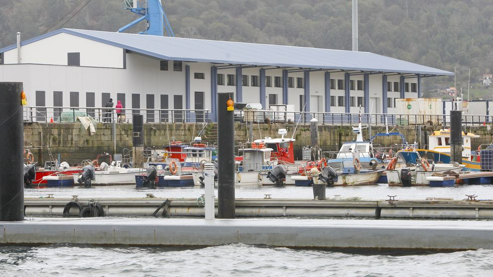 .Vista de la remozada lonja de Ferrol