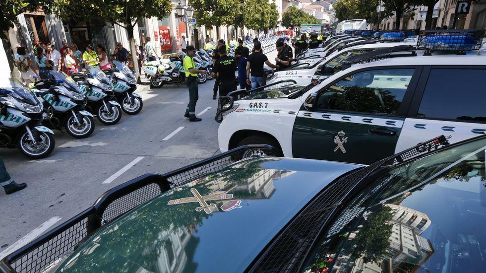 Guardia Civil, Policía Nacional y Policía Local se encargaron de la seguridad en el recorrido y en la salida