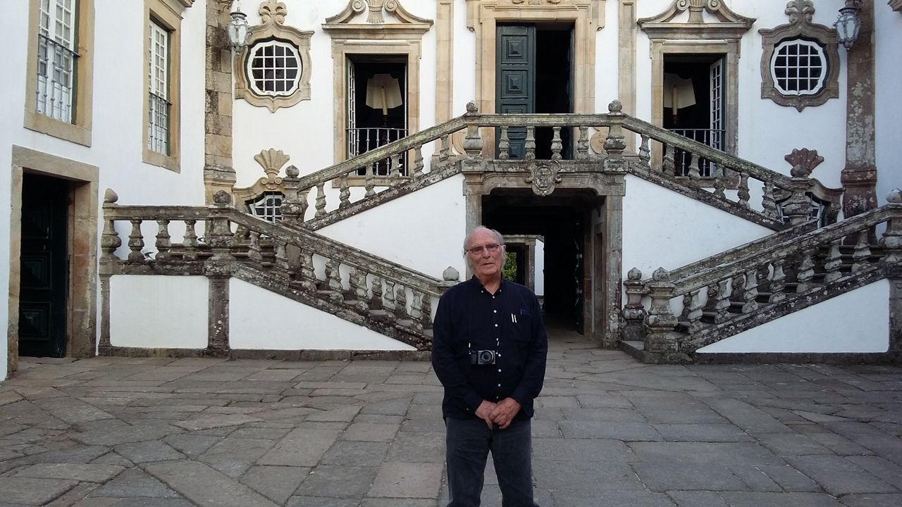 Carlos Saura, en la Casa de Mateus, Portugal