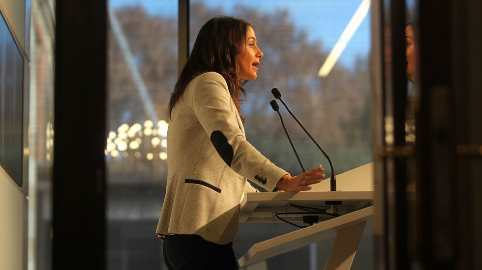 «No es momento para cobardes».Inés Arrimadas